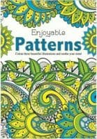 Martello Pattern / Flowers Adult Colouring Books, Relaxation Anti Stress Book